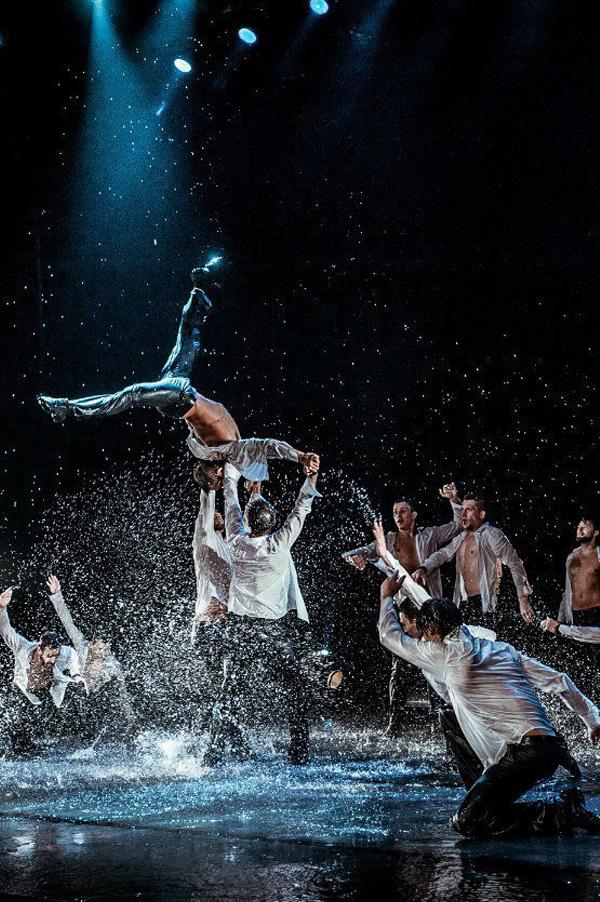 Промо-сайт проекта «Шоу по дождем» в Барселоне